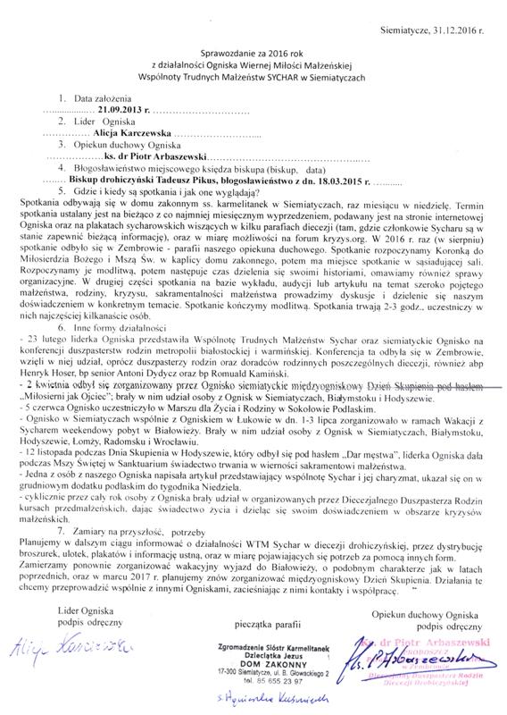 Sprawozdanie Siemiatycze2016